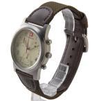ウェンガー メンズ時計 WENGER WEN72951フィールドクロノ IVカワ アイボリー × ブラウン