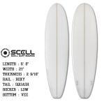 ファンボード 6'8◆SCELL サーフボード クリア●ビギナー&セカンドボードにお勧め|FCS対応 トライフィン付属|サーフィン
