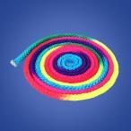 新体操ロープ 2.8m ジュニアカラーロープ トレーニング レインボーロープ 虹色 ナイロン製 おしゃれ スポーツ 体操 縄 競争 ジャンプ