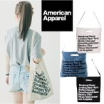 【レビュー書いてDM便送料無料】 American Apparel アメリカンアパレル トートバッグ (ホワイト/ブラック/ブルー)アメアパ バッグ ユニセックス全色在庫有