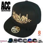 帽子 フラット キャップ メンズ レディース ブランド ロゴ ベースボールキャップ ACC(エーシーシー) スナップバック スポーツ アメカジ 無地 CAP-EAGLE
