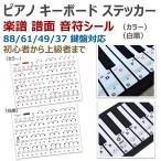 ピアノ キーボード ステッカー 楽譜 譜面 音符 シール 88/61/49/37 鍵盤 初心者 練習