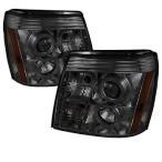 キャデラック エスカレード 2002-2006 プロジェクターヘッドライト LED DRL