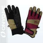 JACKFROST13(ジャックフロスト13)GIMMICK GLOVE スノーボードグローブ メンズ レディース(ユニセックス)手袋 WINE/SAND 〔jfa95000-958198〕