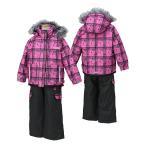 POCKET BEAR(ポケットベア)子供 女の子用 スキーウェア  D.ピンク/チャコール 〔pbt-2513-dpink〕