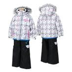POCKET BEAR(ポケットベア)子供 女の子用 スキーウェア  ホワイト/ブラック 〔pbt-2513-white〕