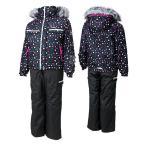 サイズ調整機能つき ガールズ 女の子 中綿入りスキーウェア