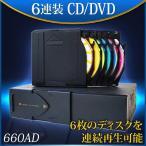 送料無料 DVDチェンジャー6連装/DVDプレーヤー DVD/CD/MP3/AVI対応  660AD