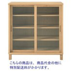 無印良品 オーク材キャビネットガラス扉(引戸) 15874903 良品計画 リビング収納・テレビ台