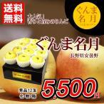 りんご 送料無料 ぐんま名月 長野県安曇野産 秀品 12玉 化粧箱 あまい 贈答用 家庭用 おためし