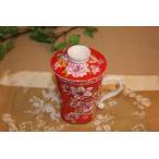 中国茶器 台湾茶器 三希 台湾花布 (紅) マグカップ