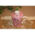 中国茶器 台湾茶器 三希 台湾花布 (ピンク) マグカップ