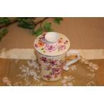 中国茶器 台湾茶器 三希 台湾花布 (ベージュ) マグカップ