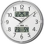 シチズン 高精度温湿度計付電波掛時計「インフォームナビF」 4FY618‐019