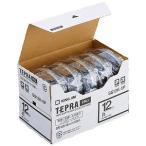 ショッピングテープ キングジム 白ラベルテープ 「テプラPRO」(黒文字/12mm幅・5個パック) SS12K‐5P (白)