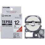 キングジム 白ラベルテープ 「テプラPRO」(黒文字/12mm幅/ロングタイプ) SS12KL (白)