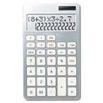 アスカ 計算式表示電卓(12桁) C1221S(シルバー)