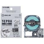 キングジム 透明マットラベルテープ 「テプラPRO」(白文字/24mm幅) SB24TS (透明)