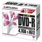 三菱化学 1〜16倍速対応 データ用DVD-Rメディア(4.7GB・10枚)  DHR47JPP10