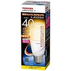 東芝 LED電球(電球色/口金E26)「E-CORE」「一般電球タイプ」 LDT6L‐G/S/40W