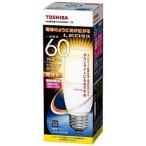東芝 LED電球(電球色/口金E26)「E-CORE」「一般電球タイプ」 LDT8L‐G/S/60W