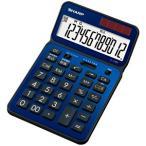 シャープ ナイスサイズタイプ電卓 「電卓50周年記念モデル」(12桁) EL‐VN82‐AX (ディープブルー)