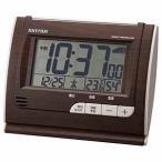 リズム時計工業 電波目覚まし時計「フィットウェーブD165」 8RZ165SR06 (濃茶)