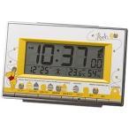 くまのプーさん 目覚まし時計 電波時計 温度 湿度計付き リズム時計 8RZ133MC08