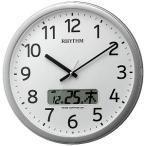 リズム時計工業 電波掛け時計 「プログラムカレンダー01SR」  4FNA01SR19