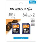 TEAM 64GB・UHS-I対応・Class10対応SDXCカード(2枚セット) TXC064GU1DP