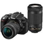 ニコン D5300(AF−P ダブルズームキット)(ブラック/デジタル一眼レフカメラ) D5300WZ3