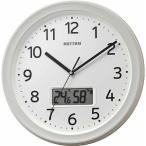 リズム時計 RHYTHM 温度 湿度計付電波掛け時計 フィットウェーブリブA02 8FYA02SR03