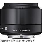 シグマ ミラーレス一眼カメラ専用 広角レンズ 19mm F2.8 DN(ソニーE) (ブラック)