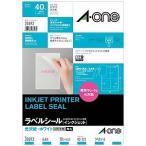 エーワン インクジェット用光沢紙ラベル(A4サイズ・4面・10シート)  28693
