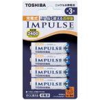 東芝 TOSHIBA 充電池(単3形4本入)「充電式IMPULSE」 TNH‐3A 4P