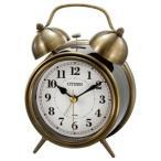 シチズン 目覚まし時計「ツインベルRA06」 8RAA06‐063 (金色イブシ仕上)