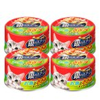 銀のスプーン お魚とささみミックス かつお節入り 70g 4缶 キャットフード ウェット 缶詰