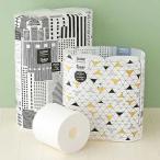 トイレットペーパー 6ロール入 パルプ 再生紙配合 ダブル 75m スコッティ フラワーパック 3倍長持ち 北欧デザイン 1パック(6個入) 日本製紙クレシアの画像
