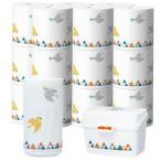 LOHACO限定デザイン見せるトイレコーディネート北欧シリーズ トイレットペーパー(ダブル)30m・トイレの消臭力・ミチガエルトイレクリーナー3種セット