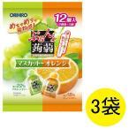ぷるんと蒟蒻ゼリー パウチ マスカット オレンジ 20g 12コ入