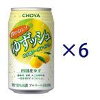チョーヤ 酔わないゆずッシュ 350ml 6缶