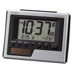 アウトレット CITIZEN(シチズン)ソーラー  電波卓上置き時計 アラーム カレンダー 温湿度 83×108×45mm 8RZ186-019 1個