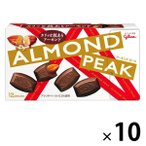 江崎グリコ アーモンドピーク 10箱 チョコレート お菓子