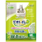 デオトイレ 緑茶成分入り 1週間消臭・抗菌サンド 4L(約2ヶ月分)猫砂 ユニ・チャーム