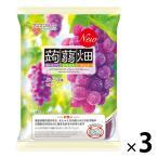マンナンライフ 蒟蒻畑 ぶどう味 844023 1セット(3袋)