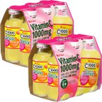 C1000 ビタミンレモン コラーゲン&ヒアルロン酸 2パック(140mL×12本) ハウスウェルネスフーズ