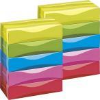 ティッシュペーパー 150組(5箱入) オリジナルティッシュスマートコンパクトビビッドカラー 1セット(2パック)アスクル