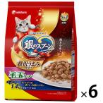 箱売り 銀のスプーン 贅沢うまみ仕立て 毛玉ケア お魚づくし 国産 1.4kg(小分けパック4袋入)6袋 キャットフード 猫 ドライ