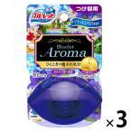液体ブルーレットおくだけ トイレタンク芳香洗浄剤 つけ替え用 リラックスアロマの香り 70ml 1セット(3個)小林製薬