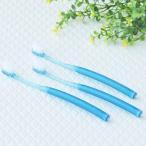 ロハコ限定 LOHACO Lifestyle Oral Care 歯ブラシ コンパクト やわらかめ 青 1セット(3本) アスクル 歯ブラシ